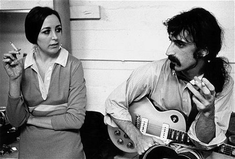 Pauline Butcher & FZ, backstage in Anaheim, 1968.