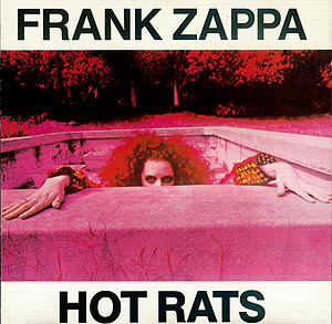 "Christine Frka on the cover of ""Hot Rats"""