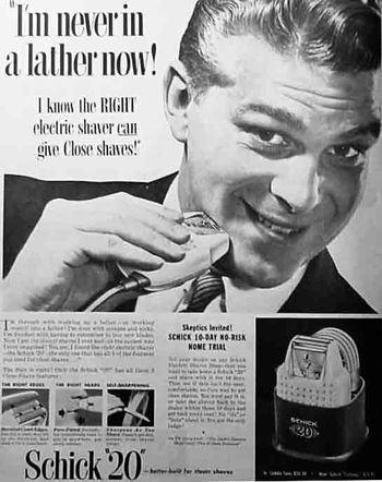 Advert for Shick razors